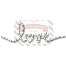 Fustella metallica Scritta Love