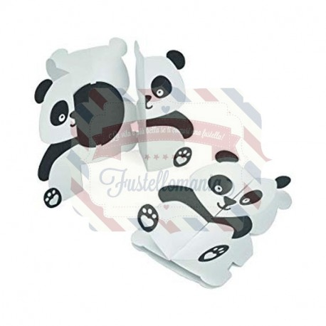 Fustella Sizzix Thinlits Card Panda Fold a Long