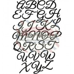 Fustella metallica Marianne Design Craftables Classic Alphabet - upper case