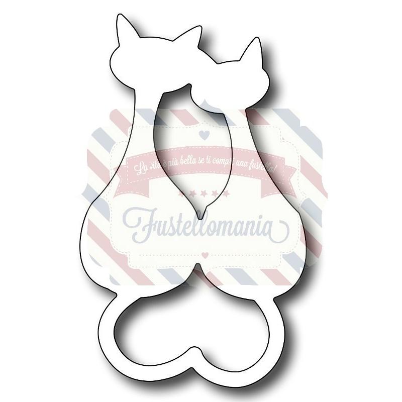 Fustella metallica gatti innamorati for Gatti in pannolenci