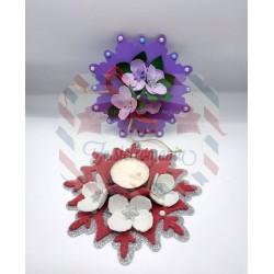 Fustella XL Centrotavola con fiore