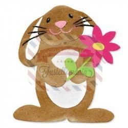 Fustella Sizzix Originals Coniglietto e fiore