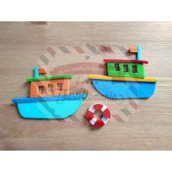 Fustella M Barca e salvagente