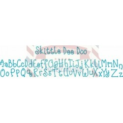 Fustella Sizzix Decorative Strip alfabeto Skittle Dee Doo