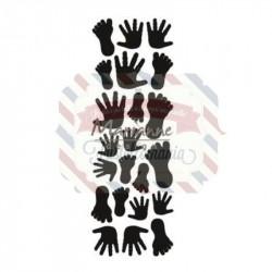 Fustella metallica Marianne Design Craftables punch die hands & feet