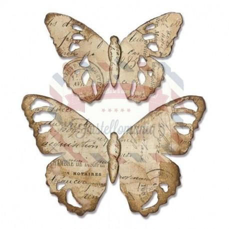 Fustella Sizzix Bigz tattered butterfly
