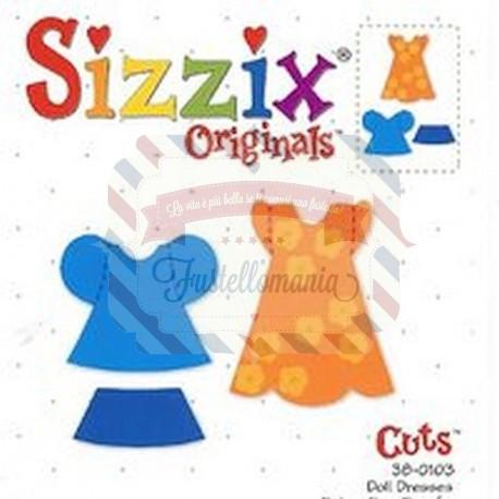 Fustella Sizzix Bigz Set vestiti bimba bambola