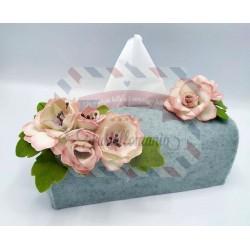 Fustella doppia XL Kit Custodia porta salviette con fiore e foglia