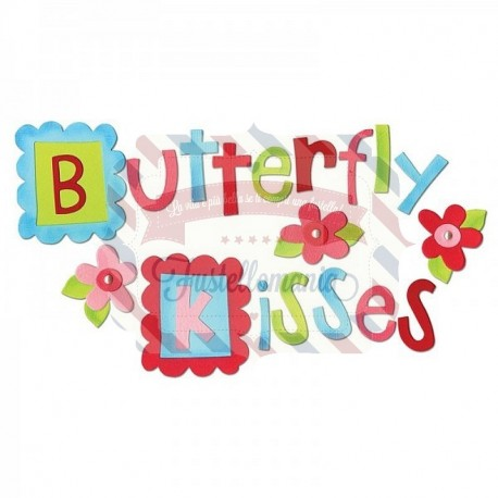 Fustella Sizzix alfabeto Butterfly Kisses