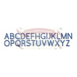 Fustella metallica Alfabeto
