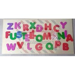 Fustella doppia XL + M Alfabeto maiuscolo Rainbow Kit 3 fustelle