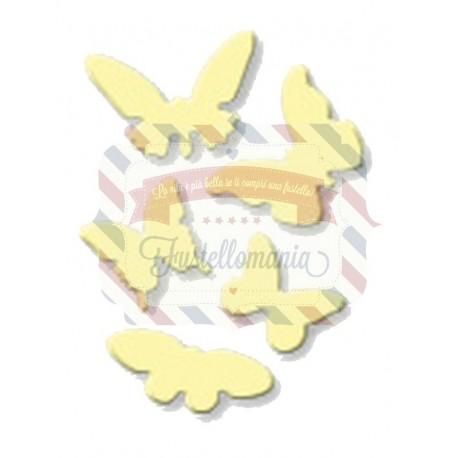 Fustella metallica set Farfalle