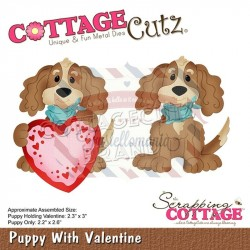 Fustella metallica Cottage Cutz Puppy With Valentine