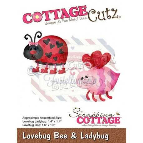 Fustella metallica Cottage Cutz Lovebug Bee & Ladybug
