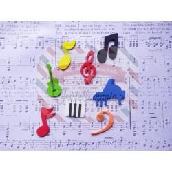Fustella M Musica e note musicali