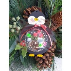 Fustella M Pinguino con spazio per sfera decorativa