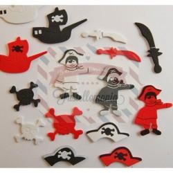 Fustellati in fommy adesivo 43 pezzi Pirati