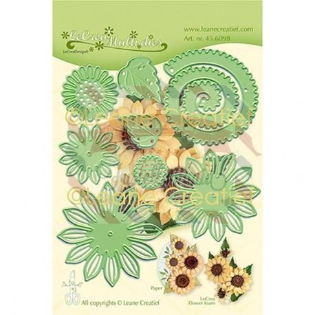 Fustella metallica Leane Creatief 019 Sunflower 3D cut and embossing die