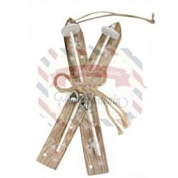 Sci di legno decorativi 15x6 cm