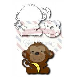 Fustella metallica Scimmietta
