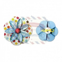 Fustella Sizzix Sizzlits Decorative Strip Flower folded