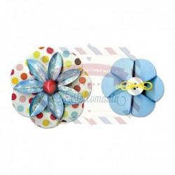 Fustella Sizzix Sizzlits Decorative Strip Flower folded