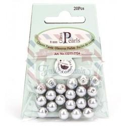 Perline tonde grigio chiaro 8 mm