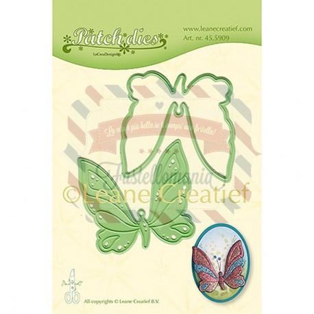 Fustella metallica Leane Creatief patch butterfly
