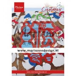 Fustella metallica Marianne Design Creatables Tiny's Frosty snowmen