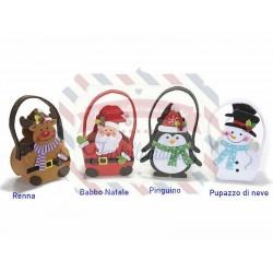 Borsetta in panno colorato personaggio natalizio a scelta