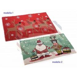 Zerbino con decorazioni natalizie e base antiscivolo