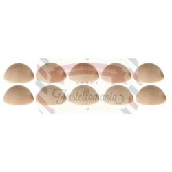 Set 10 semisfere in legno di faggio 40 mm