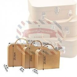 Set 3 valigie di cartone 3 misure