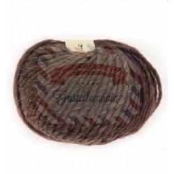 Gomitolo di lana daisy colore marrone