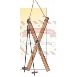 Sci di legno decorativi marrone 18,5x10 cm