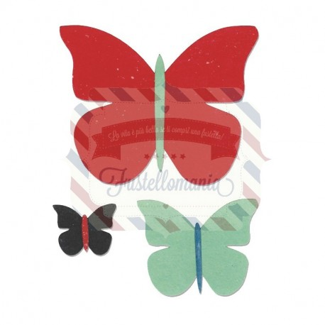 Fustella Sizzix Bigz Trio farfalle
