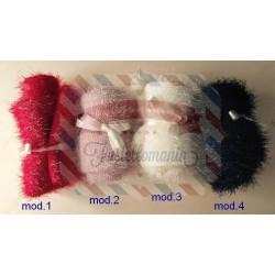 Tubolare in lana lamè 80x12 cm colore a scelta