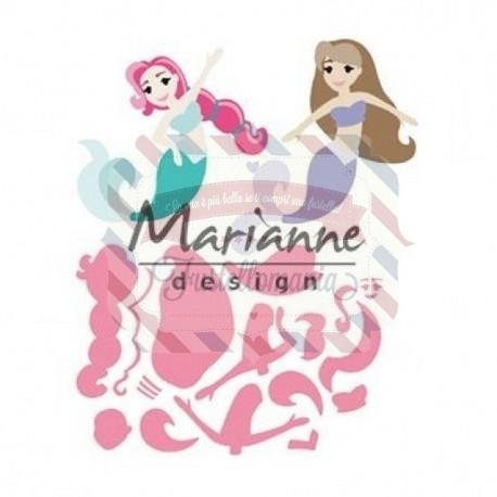 Fustella metallica Marianne Design Collectables mermaids by Marleen