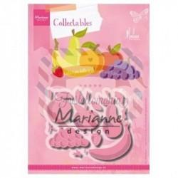 Fustella metallica Marianne Design Collectables fruit by Marleen
