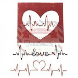 Fustella Sizzix Thinlits Heartbeat by Tim Holtz