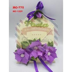 Fustella doppia XL+M Borsa con fiori kit 2 fustelle