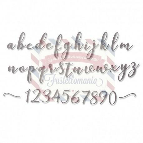 Fustella Sizzix Thinlits Alfabeto set 45pk elle lowercase