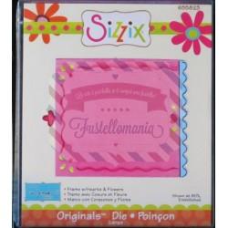 Fustella Sizzix Originals Cornice con cuori e fiori