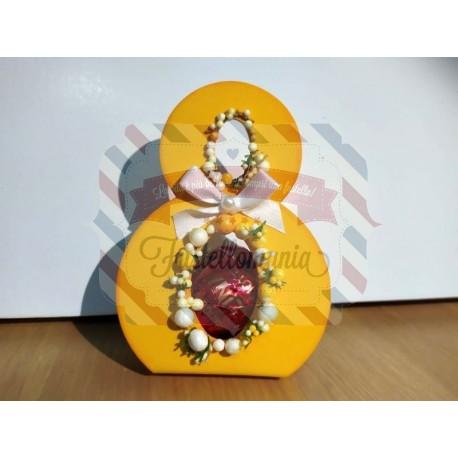 Fustella M Porta cioccolatini mimosa e gallina