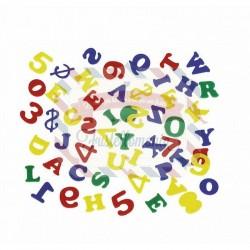 Fustellati 104 pezzi Lettere e numeri in fommy