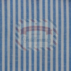 Tessuto 100% cotone 45x50 cm basic blue striped