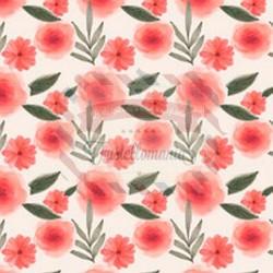 Tessuto per mascherine Interlock 50x40 cm fiori rossi