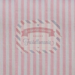 Tessuto 100% cotone 45x50 cm basic light pink striped