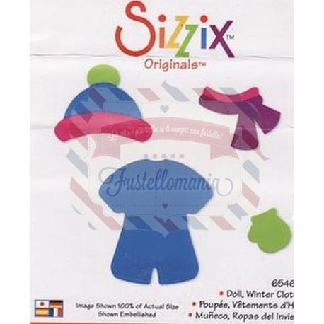 Fustella Sizzix Bigz Set vestiti invernali bimba bambola