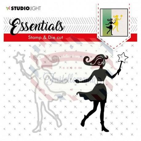 Fustella metallica e timbri Studio Light stamp & die cut Essentials nr.45